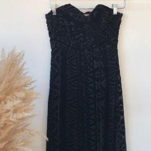 Strapless velvet burnout dress by Twelfth Street